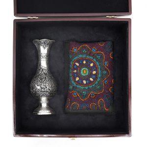 بسته گلدان نقره قلمزنی و پته دوزی (226)