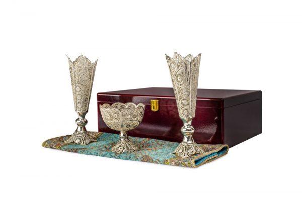 بسته گلدان و آجیل خوری ملیله و ترمه (203)